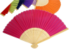 Asian Silk Folding Fans - Fuchsia