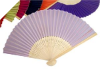 Asian Silk Folding Fans - Lavender