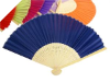 Asian Silk Folding Fans - Navy Blue