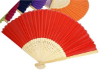 Asian Silk Folding Fans - Red