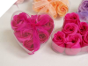 Heart Rose Soap Petals-Fuchsia