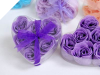 Heart Rose Soap Petals-Purple