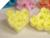 Heart Rose Soap Petals-Yellow