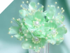Faux Pearl Flower-Mint.72/pk