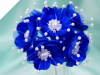 Faux Pearl Flower-Royal.72/pk