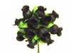 Rose Bud-Black.144/pk