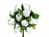 Rose Bud-White.144/pk