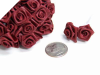 Ribbon Roses-Burgundy.144/pk