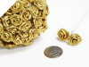 Ribbon Roses-Gold.144/pk