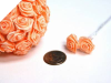Ribbon Roses-Peach.144/pk
