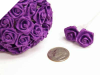 Ribbon Roses-Purple.144/pk
