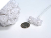 Ribbon Roses-White-144/pk