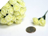 Ribbon Roses-Yellow.144/pk