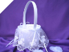 Classic Beauty Wedding Flower Girl Basket - White