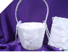Butterfly Flower Girl Wedding Basket - White