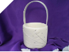 Dimonte Wedding Flower Girl Basket - Ivory
