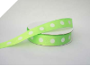 2.22cm Polka Dot Ribbon-Apple Green