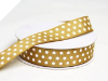 2.22cm Polka Dot Ribbon-Chocolate