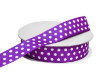 2.22cm Polka Dot Ribbon-Purple