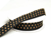 3.81 cm Polka Dot Ribbon-Black_1