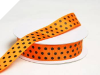 2.22cm Polka Dot Ribbon-Orange with Black
