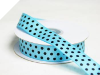 2.22cm Polka Dot Ribbon-Turquoise with Black