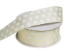 3.81 cm Polka Dot Ribbon-Yellow
