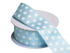 3.81 cm Polka Dot Ribbon-Blue