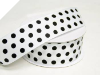 3.81 cm Polka Dot Ribbon-White