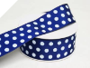 3.81 cm Polka Dot Ribbon-Navy