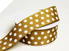 3.81 cm Polka Dot Ribbon-Chocolate