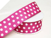 3.81 cm Polka Dot Ribbon-Burgundy