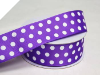 3.81 cm Polka Dot Ribbon-Purple