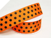 3.81 cm Polka Dot Ribbon-Orange_1