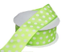 3.81 cm Polka Dot Ribbon-Apple Green