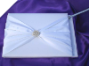 Pearl Cluster Guest Book with Pen - White