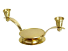 Gold Plated Unity Candle Holder - Gold