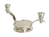 Silver Plated Unity Candle Holder - Silver