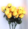 Silk Rose Buds - Yellow 1-bunch