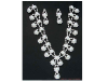 Rhinestone and Pearl Necklace & Earring Set