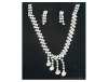 Crystal Drop Rhinestone Necklace & Earring Set