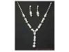 Clear Rhinestone Necklace & Earring Set