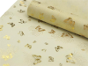 Non-woven Butterfly Fabric Gold/Ivory - 48cm x 9.14m
