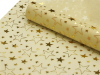 Non-woven Star Print Fabric Gold/Ivory - 48cm x 9.14m