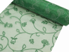 Organza Embroidery Roll 30.48cm x 9.14m - Emerald Green