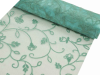 Organza Embroidery Roll 30.48cm x 9.14m - Turquoise