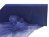 137.16cm x 36.5m Organza Fabric Bolt - Navy Blue