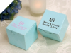 Personalized Turquoise Box - 100 Count