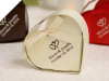 Personalized Ivory Heart Favour Box - 100pc