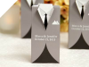 Personalized Silver Tuxedo - 100 Count